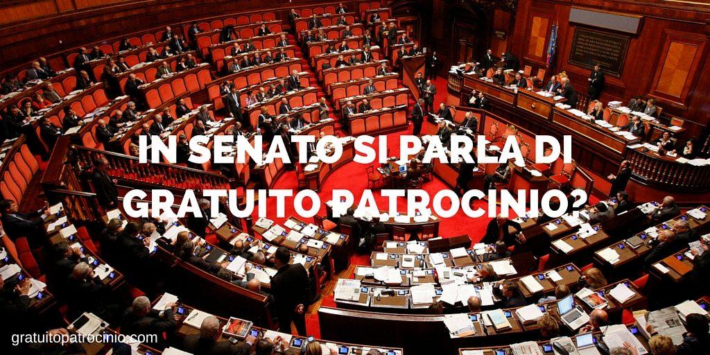 Gratuito patrocinio in Senato